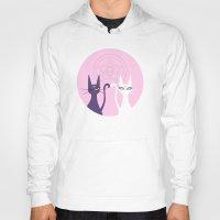 sailormoon Hoodies featuring Luna and Artemis - Pink by gracekansai