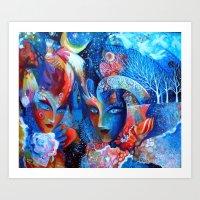 venice Art Prints featuring Venice by oxana zaika