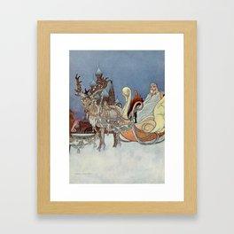 """The Happy Princess"" Fairy Art by Charles Robinson Framed Art Print"