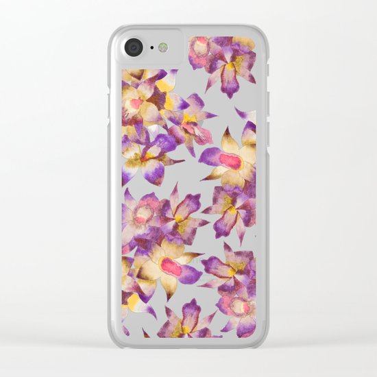 Vintage Floral Clear iPhone Case