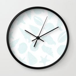 Seashells Blue Wall Clock
