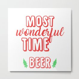 It's The Most Wonderful Time For Beer Metal Print