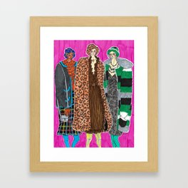 Anna Sui Girls in Fall 2019 – Original Fashion art, Fashion Illustration, Fashion wall art Framed Art Print