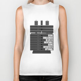 Lab No. 4 -Being Challenged In Life Is Inevitable Gym Motivational Quotes Poster Biker Tank