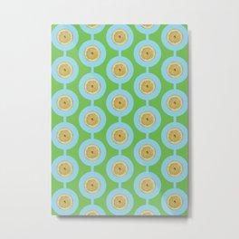 Light Blue Lemon Metal Print