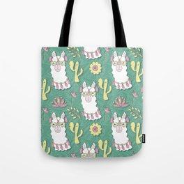 Cute calm llama in sunglasses Tote Bag