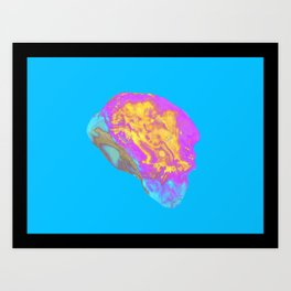 Agate topography (third in a series) Art Print