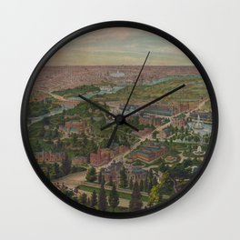 Vintage Pictorial Map of Philadelphia PA (1876) Wall Clock