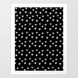 Ink Heart Pattern Art Print