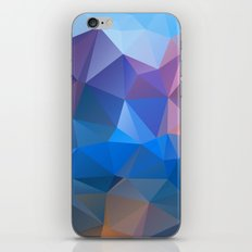 Colored polygon pattern.Amethyst. iPhone & iPod Skin