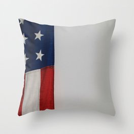 Side Flag (Color) Throw Pillow
