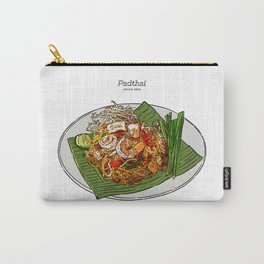 Noodle Padthai Food Thailand Dish Hand Draw Sketch Carry-All Pouch