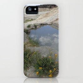 Hot spring oasis iPhone Case