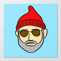 steve zissou Canvas Prints featuring Steve Zissou by CozyReverie