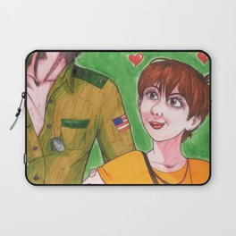 In Love with a Man in (a Fake) Uniform Laptop Sleeve