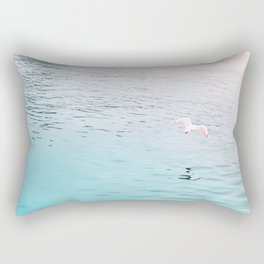 Seagull flying Rectangular Pillow