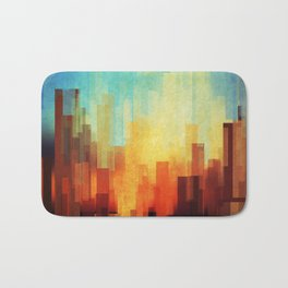 Urban sunset Bath Mat