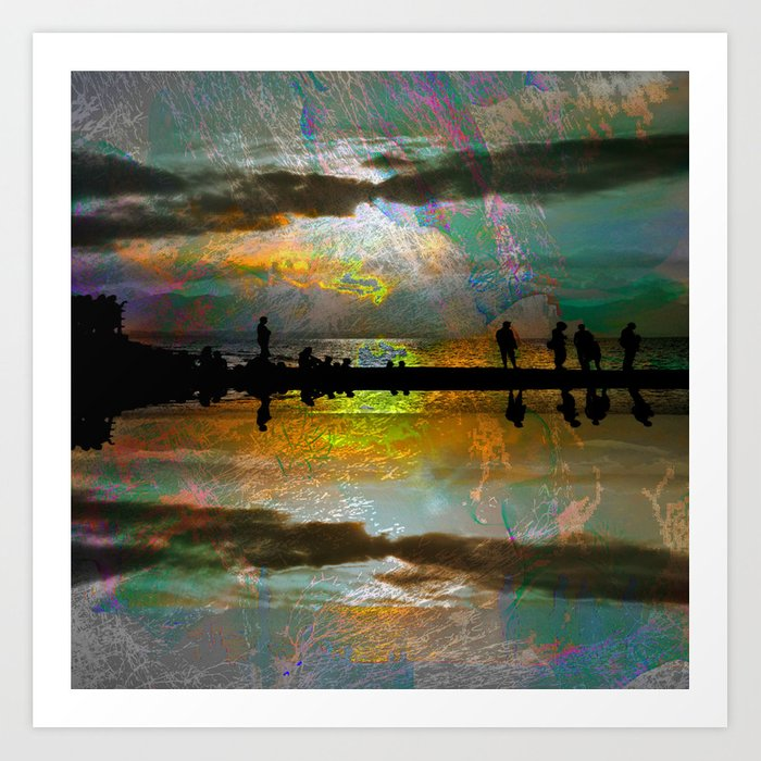 Abstract-art sunset Art Print