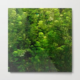 Underwater green Metal Print