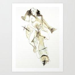 Tristan Corbière, Thick Black Trace, Pudentiane Art Print