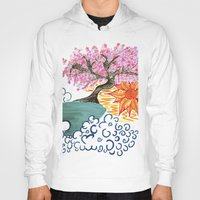 cherry blossoms Hoodies featuring Cherry Blossoms by Michela Deck