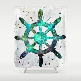 The Captains Wheel Shower Curtain