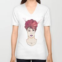 exo V-neck T-shirts featuring Exo Kai by Isaacson1974