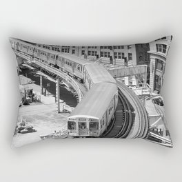 Brown Line Rectangular Pillow