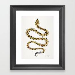 Olive Serpent Framed Art Print