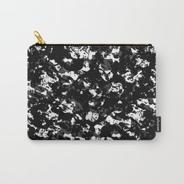 Black and White Grunge Pattern Carry-All Pouch