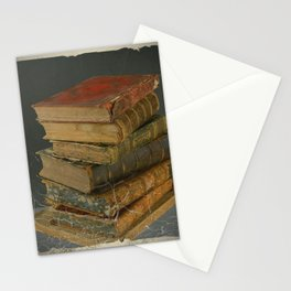 GRUBY SHABBY CHIC ANTIQUE LIBRARY BOOKS Stationery Cards