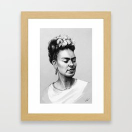 Portrait of Frida Kahlo Framed Art Print