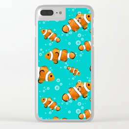 Tropical Clownfish Pattern Clear iPhone Case