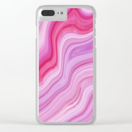 Purple Agate Clear iPhone Case