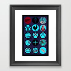 Spiritual Way of The Cross - Poster - Jesus Good Friday Framed Art Print
