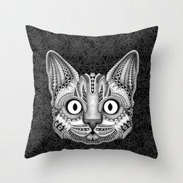 Egypt cat aztec pattern Throw Pillow