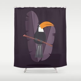 Toucan card - Welcome Shower Curtain