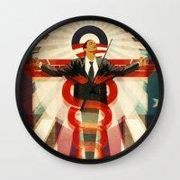 obama Wall Clocks featuring Obama Care by BradleyDean