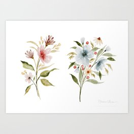 Two Tiny Bouquets Art Print