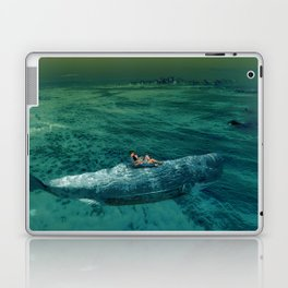Big Whale and lover Laptop & iPad Skin