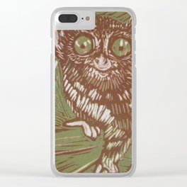 Green Tarsier Clear iPhone Case