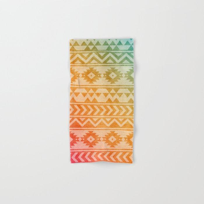Aztec Pattern 02 Hand & Bath Towel