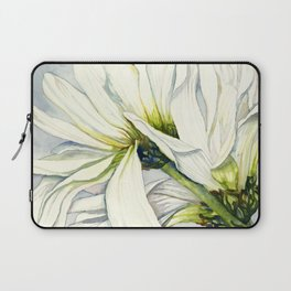 White Daisies Laptop Sleeve