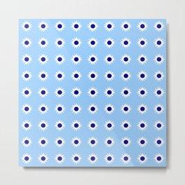 stars 48- Blue Metal Print