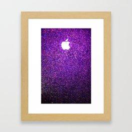 purple shimmer burst Framed Art Print