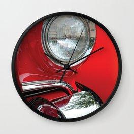 Red Classic Car Wall Clock