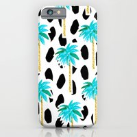 Palm Trees and Dots Slim Case iPhone 6s