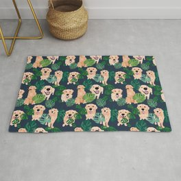 Golden Retrievers Tropical Rug