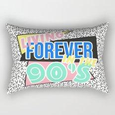 Living Forever In The 90's Rectangular Pillow