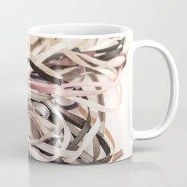 Mixed satin ribbons in pastel colors Coffee Mug